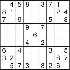 7. Sudoku - Number placement, Arithmetic, Logic.
