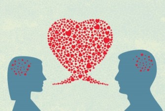 The mind on love leads to sharing, trust, and intimacy.