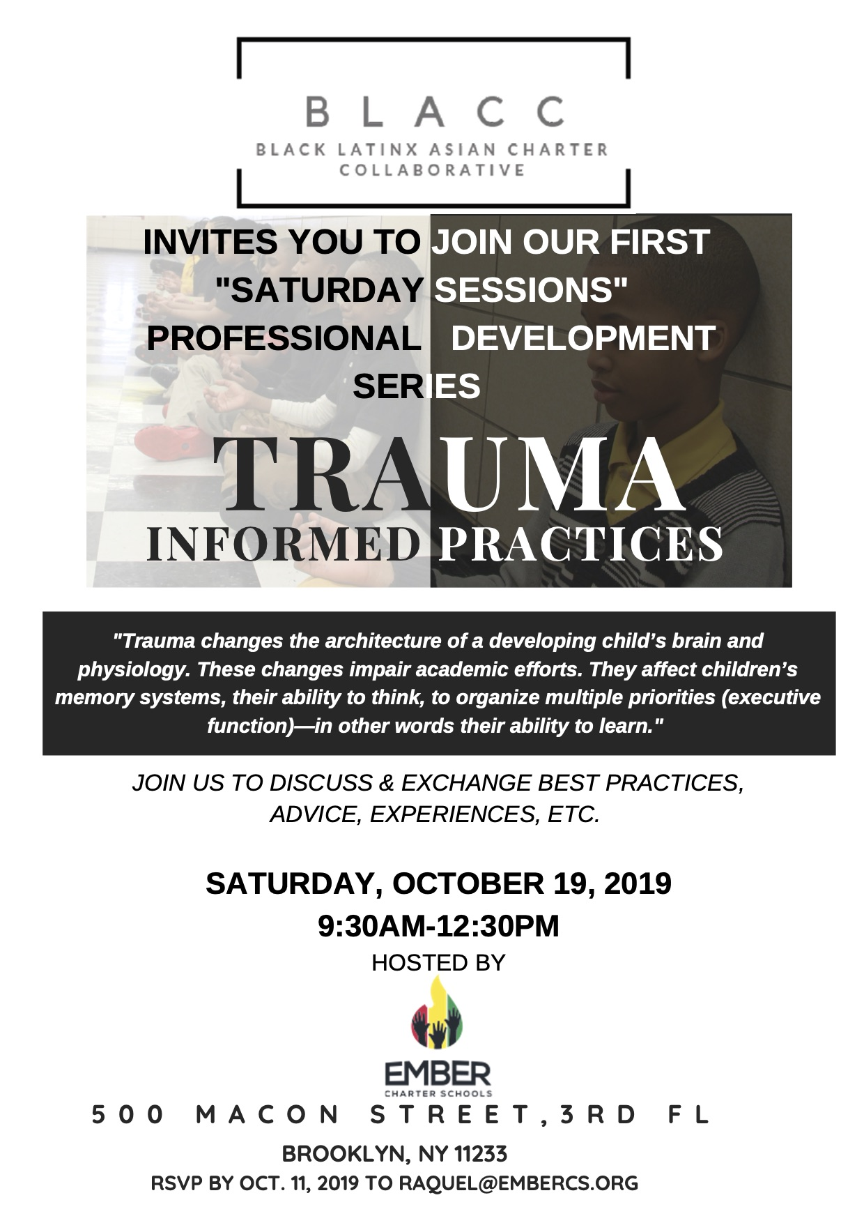 UPDATED BLACC Trauma Informed Practices PD Flyer